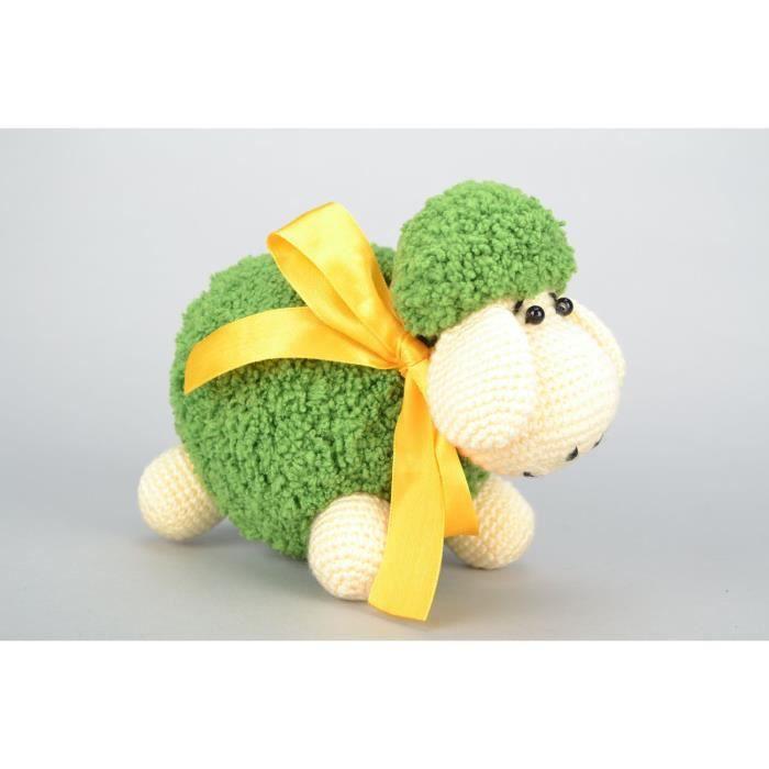 Doudou tricot au crochet original brebis achat vente - Objet decoratif original ...