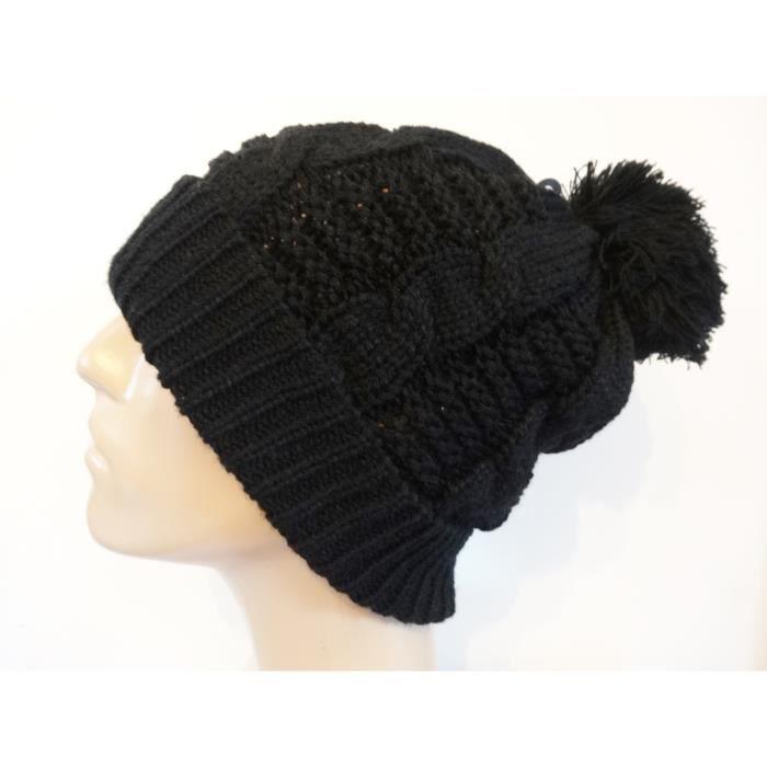 bonnet noir pour homme pompon noir achat vente bonnet cagoule 2009955643155 cdiscount. Black Bedroom Furniture Sets. Home Design Ideas