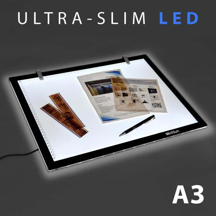 a3 illumin table lumineuse led 6000k r tro cla achat. Black Bedroom Furniture Sets. Home Design Ideas