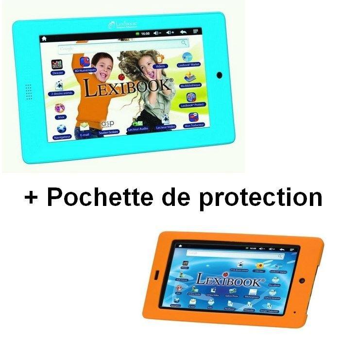 Lexibook tablette 7 39 39 master et pochette achat vente tablette enfant soldes d t d s le - Console de jeux lexibook ...