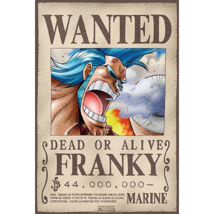 Poster one piece 39 wanted franky 39 52x38cm achat vente affiche cdiscount - Affiche one piece wanted ...