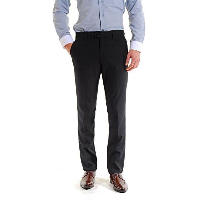 pantalon homme classique marine achat vente pantalon. Black Bedroom Furniture Sets. Home Design Ideas