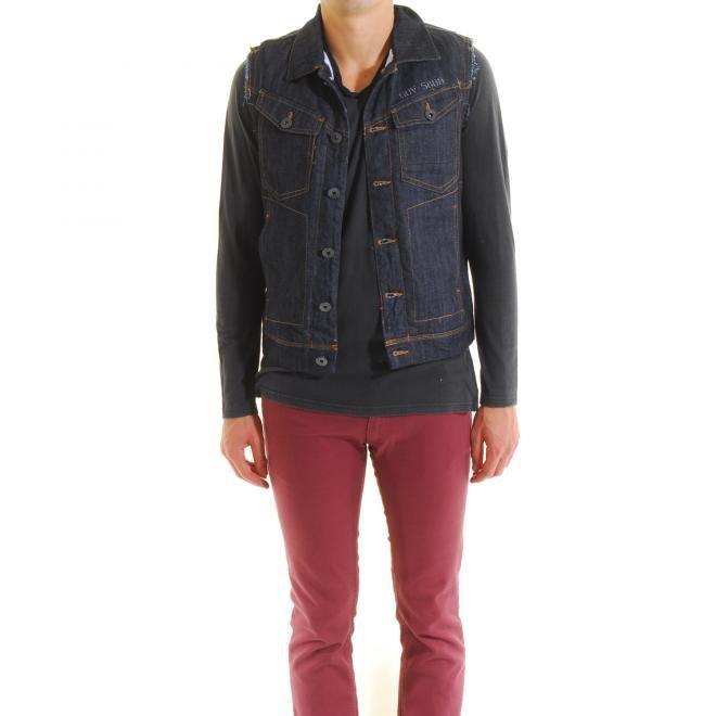 blouson homme jeans sans manche bleu achat vente blouson blouson homme jeans sans m. Black Bedroom Furniture Sets. Home Design Ideas