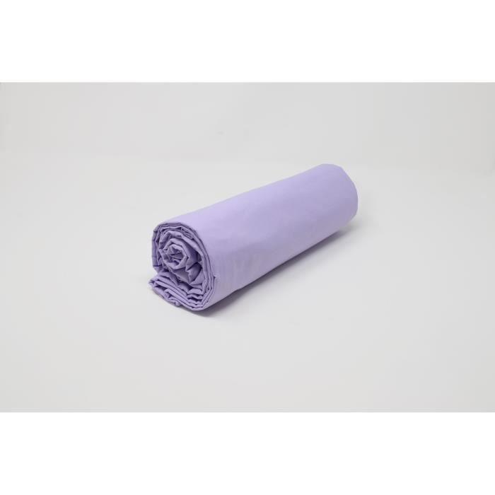 Drap housse satin uni lavande collection salom prestige - Drap housse 140x190 violet ...