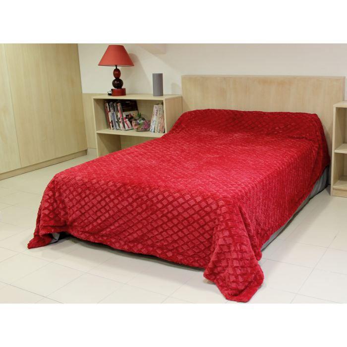 couvre lit diamant rouge achat vente jet e de lit boutis cdiscount. Black Bedroom Furniture Sets. Home Design Ideas