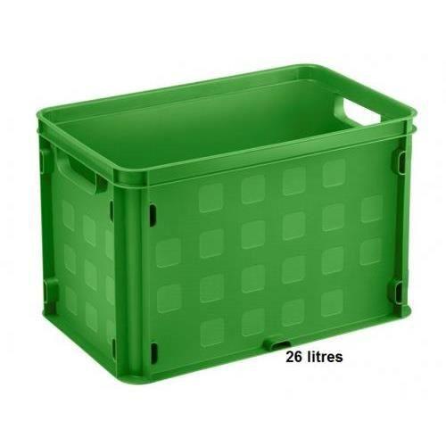 bac de rangement plastique clipsable vert 26 li achat vente etabli meuble atelier. Black Bedroom Furniture Sets. Home Design Ideas
