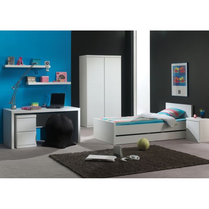 chambre compl te swithome indiana 120x200 achat vente. Black Bedroom Furniture Sets. Home Design Ideas