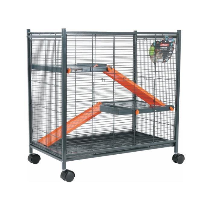 cage rat octodon etc mini loft orange gris achat. Black Bedroom Furniture Sets. Home Design Ideas