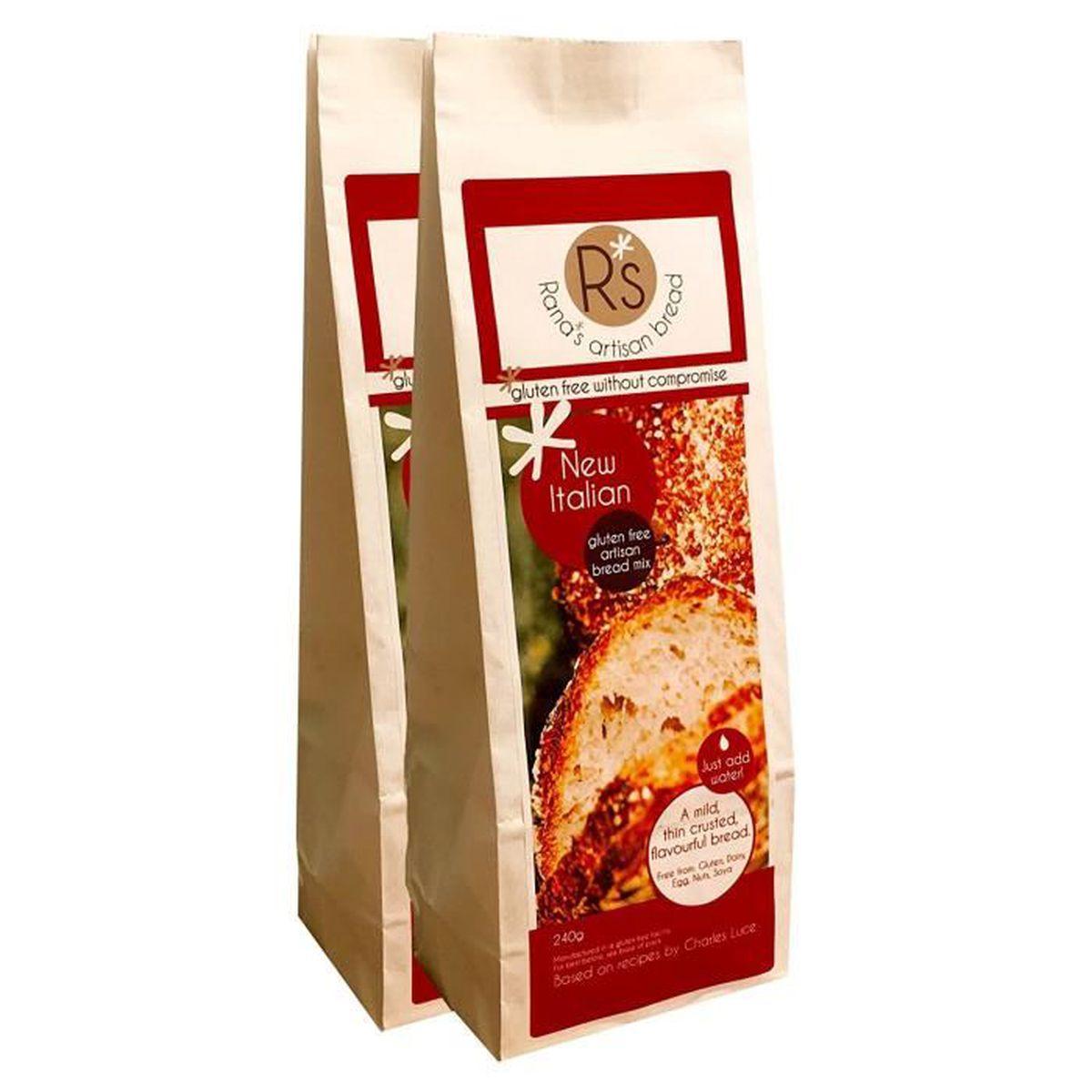 rana m lange artisanal de farines sans gluten pour pain italien pack pour 4 achat vente. Black Bedroom Furniture Sets. Home Design Ideas