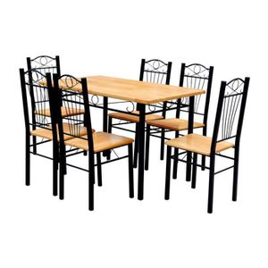 TABLE A MANGER COMPLET Table + 6 chaises en MDF