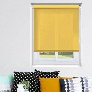rideaux jaune achat vente rideaux jaune pas cher cdiscount. Black Bedroom Furniture Sets. Home Design Ideas