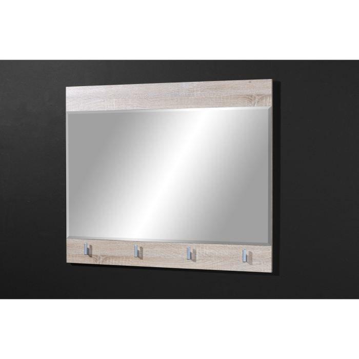 Maxima miroir coloris ch ne clair 95 75 4 cm achat for Miroir chene clair