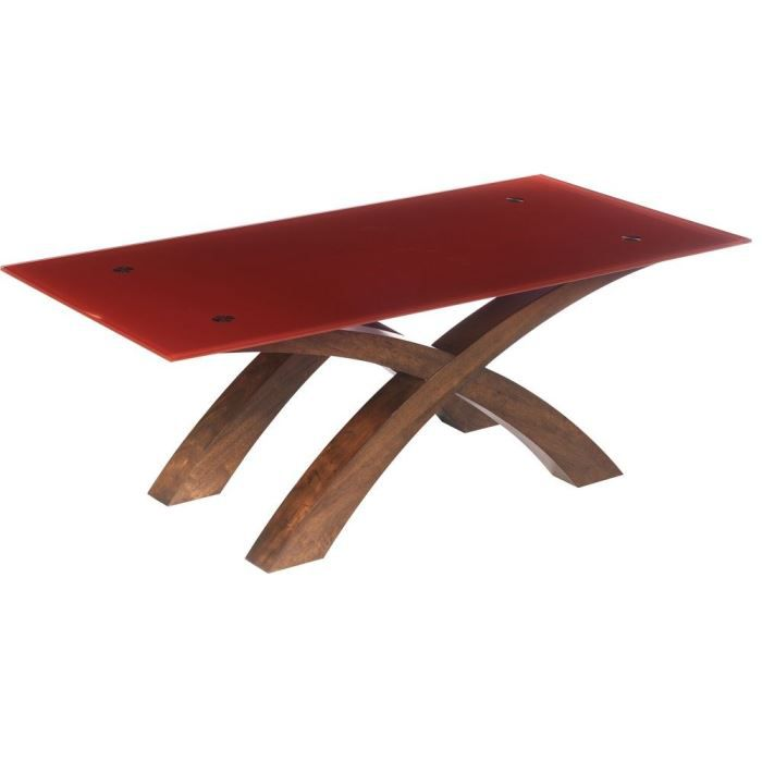 table basse oblong plateau rouge achat vente table. Black Bedroom Furniture Sets. Home Design Ideas