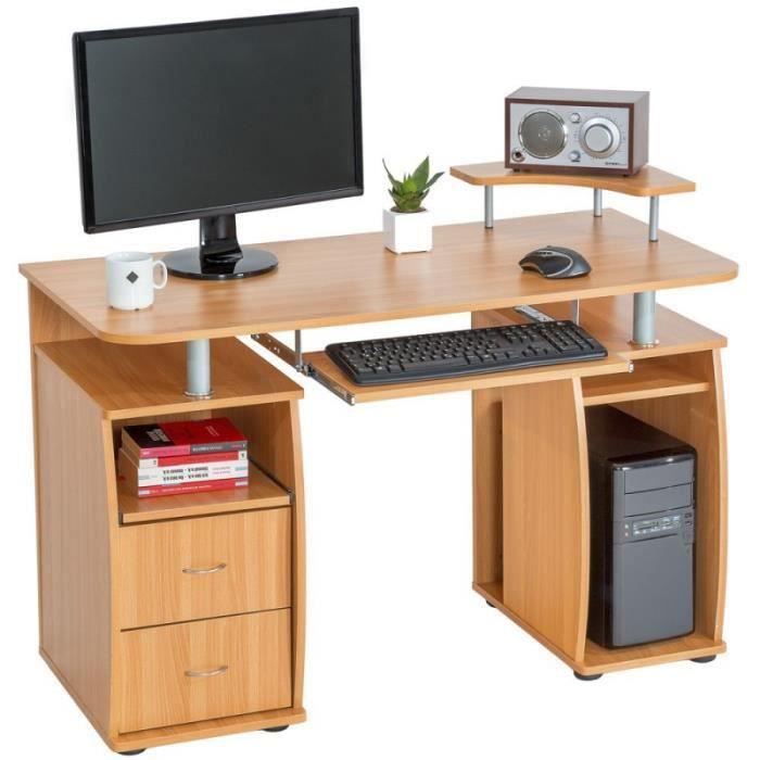 Bureau table de l 39 ordinateur h tre 115 cm achat vente for 6 bureaux regionaux de l oms