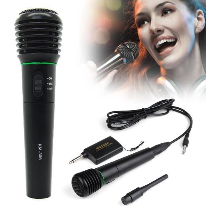 2 en 1 wired wireless microphone inka01001 pas cher achat vente micro pour instrument. Black Bedroom Furniture Sets. Home Design Ideas