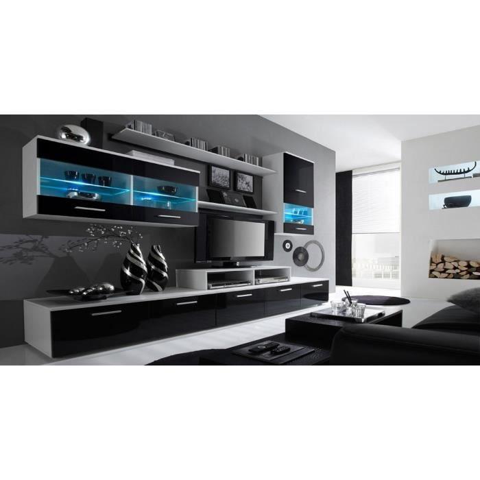 cdiscount meuble tv blanc laqu trendy meuble tv ensemble meubles tv mural nora noir et blanc. Black Bedroom Furniture Sets. Home Design Ideas