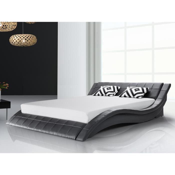 lit eau design achat vente structure de lit cdiscount. Black Bedroom Furniture Sets. Home Design Ideas