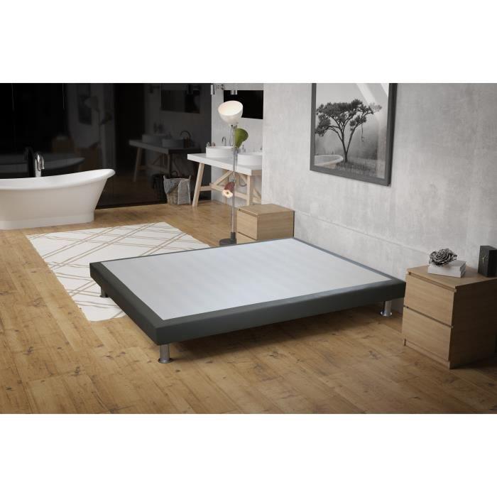 sommier c dre 90x190 cm gris achat vente sommier. Black Bedroom Furniture Sets. Home Design Ideas