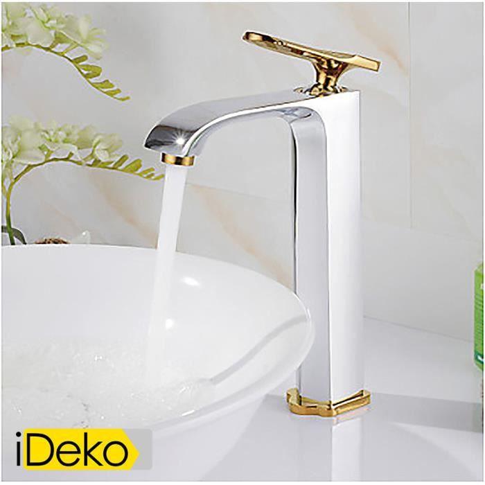 ideko robinet mitigeur lavabo laiton chrom de peinture antique un trou poign e simple robinet. Black Bedroom Furniture Sets. Home Design Ideas