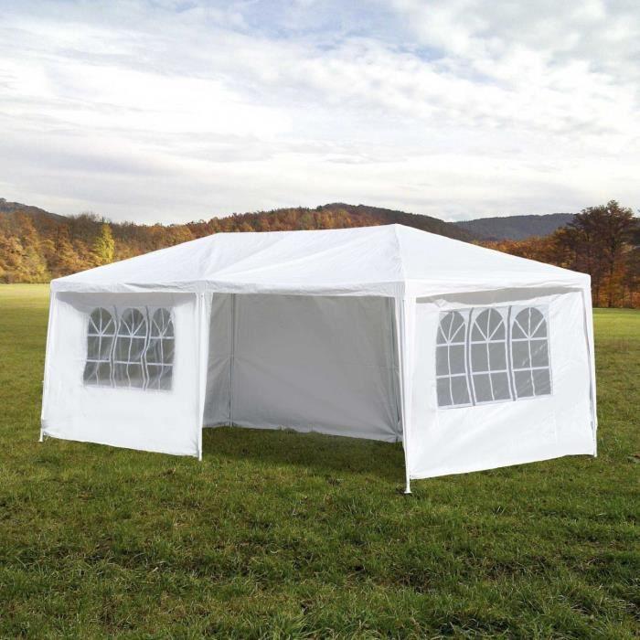 MAXCRAFT tonnelle de jardin tente 3 x 6 m blanc - Achat ...