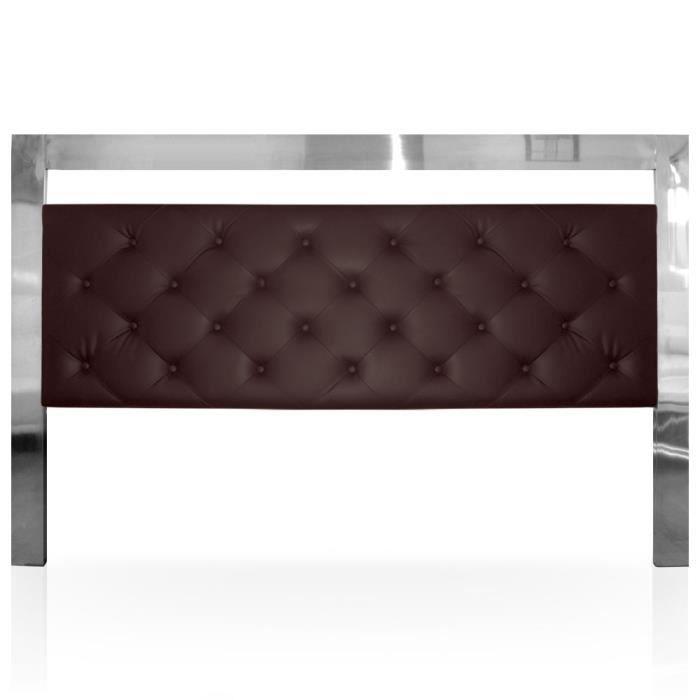 t te de lit arcade 180cm marron achat vente t te de. Black Bedroom Furniture Sets. Home Design Ideas