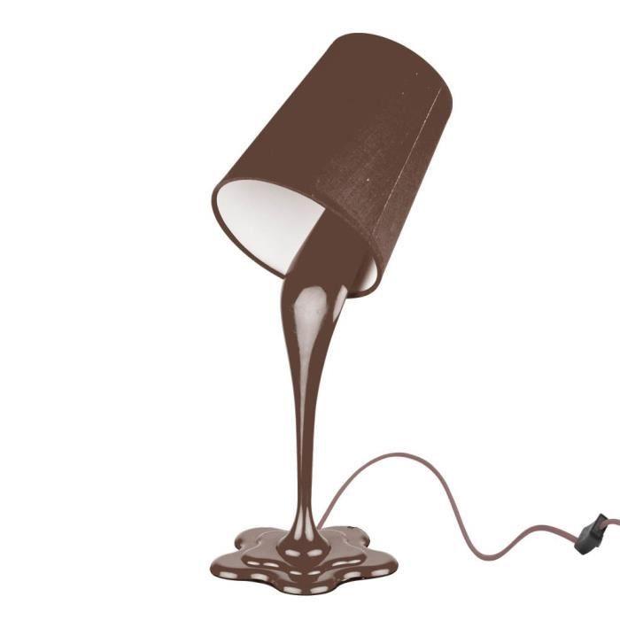 Lampe pot de peinture chocolat achat vente lampe pot de peintu - Lampe de chevet chocolat ...