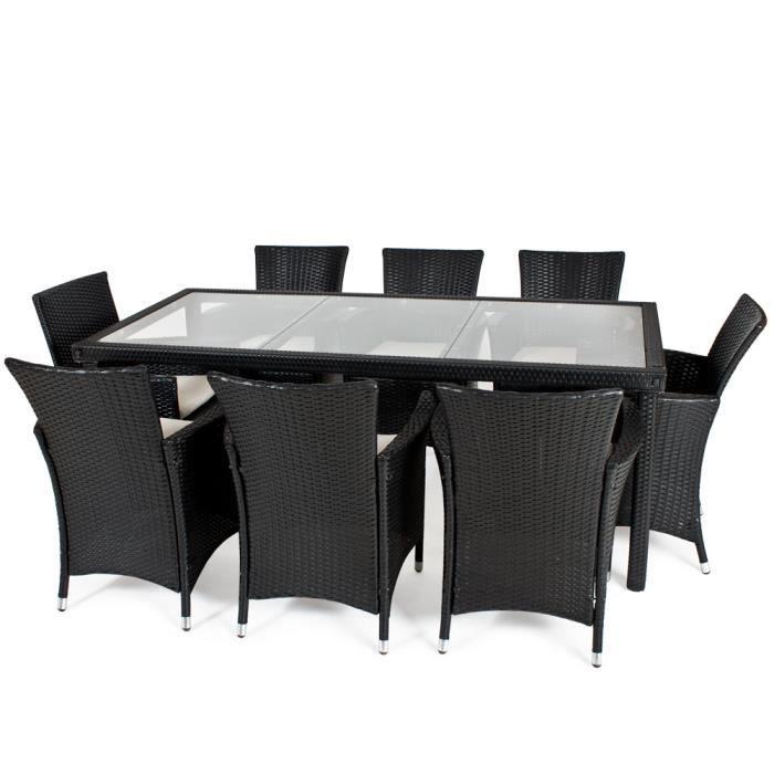 Salon de jardin poly 8 chaises 1 table tectake achat vente salon de jardin salon de - Salon de jardin table et chaises mulhouse ...