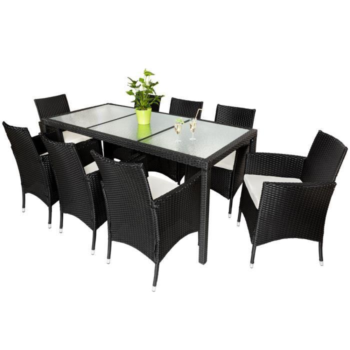 Salon De Jardin Ambre 8 Chaises Et 1 Table En R Sine