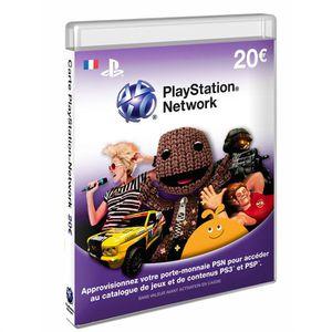 CARTE MULTIMEDIA Abonnement Playstation Network Live Card 20 €