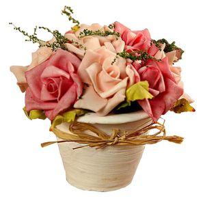 pot de fleurs artificielles rose achat vente pot de fleurs artificielles rose pas cher. Black Bedroom Furniture Sets. Home Design Ideas
