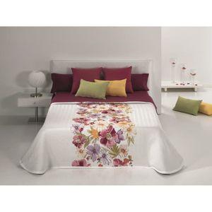 couvre lit fleur achat vente couvre lit fleur pas cher soldes d hiver d s le 11 janvier. Black Bedroom Furniture Sets. Home Design Ideas