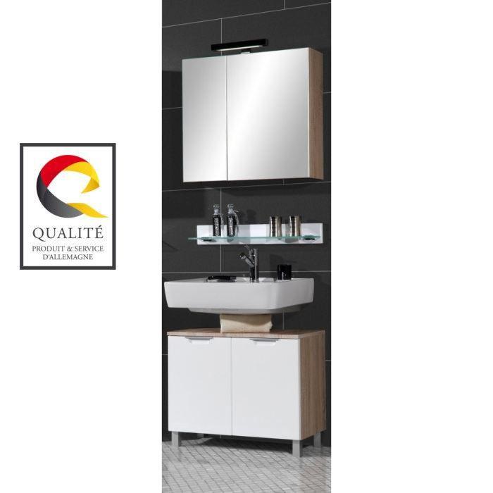 Santos meuble sous lavabo blanc 57 cm achat vente meuble vasque plan santos meuble ss for Fabrique meuble a lavabo