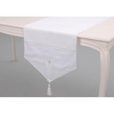 Chemin de table blanc amadeus achat vente chemin de - Set de table coton ...