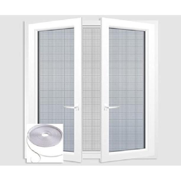 kit moustiquaire ajustable pour fen tre blanc 1 m achat vente moustiquaire ouverture. Black Bedroom Furniture Sets. Home Design Ideas