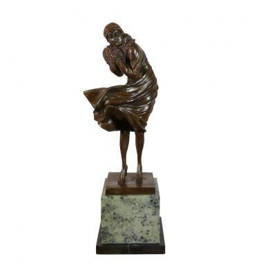 femme en bronze sculpture en bronze art d co achat vente statue statuette femme en. Black Bedroom Furniture Sets. Home Design Ideas