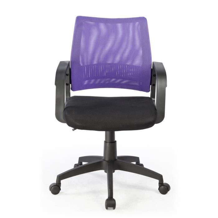 Chaise de bureau noir violet 5 roulettes dime achat - Chaise de bureau violet ...