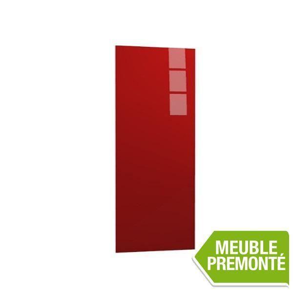 joue de finition 135x60 cristal rouge achat vente finition meuble cuisine joue de finition. Black Bedroom Furniture Sets. Home Design Ideas