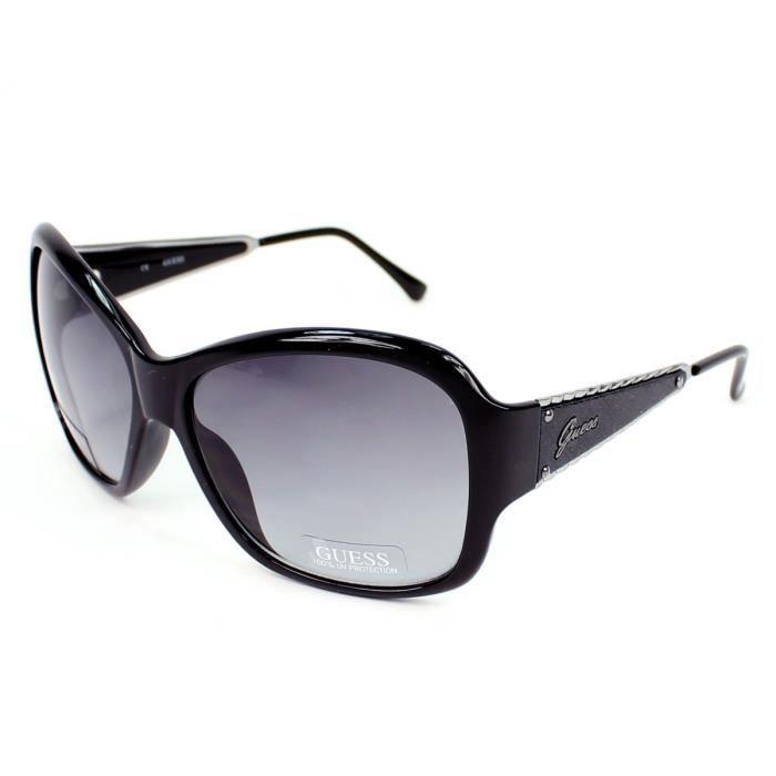 bijouterie lunettes de soleil guess gu noir gunmetal f  gue