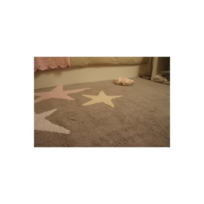 tapis lavable en machine enfant en coton rose tres estrellas lorena canals 120x160cm rose. Black Bedroom Furniture Sets. Home Design Ideas