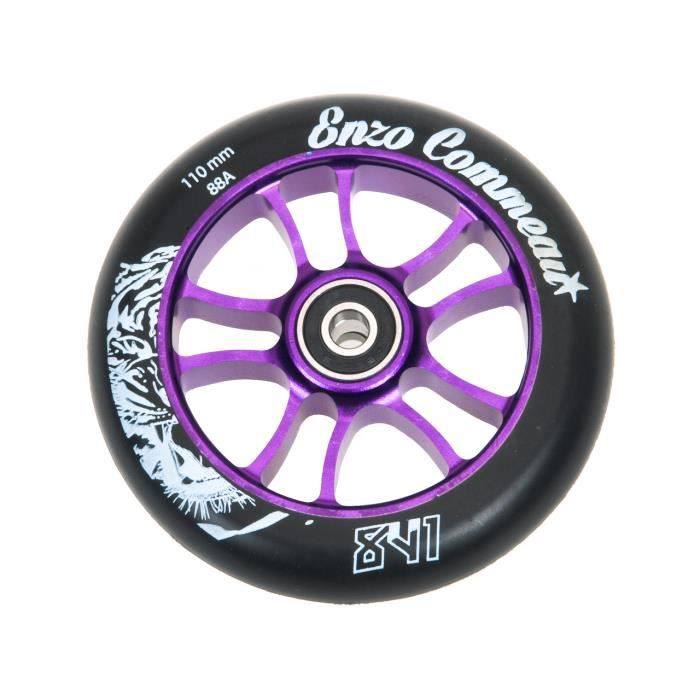 roue de trottinette enzo 110 mm abec9 violet achat vente roue de trottinette enzo 1 cdiscount. Black Bedroom Furniture Sets. Home Design Ideas