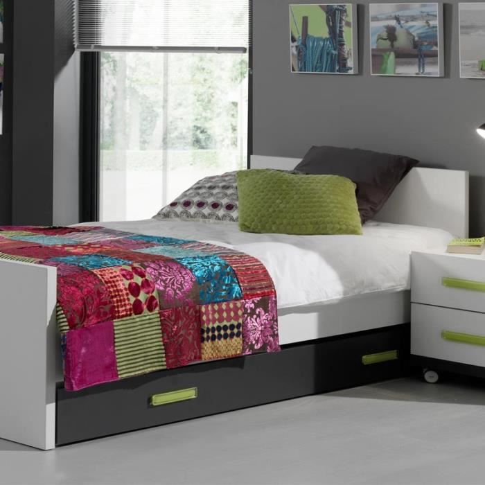 paris prix tiroir de lit enfant nixon noir achat vente tiroir de lit paris prix tiroir. Black Bedroom Furniture Sets. Home Design Ideas
