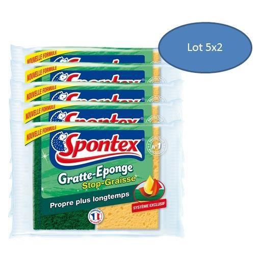 10 ponges grattantes stop graisse spontex achat vente ponge vaisselle 1 - Ensemble vaisselle pas cher ...