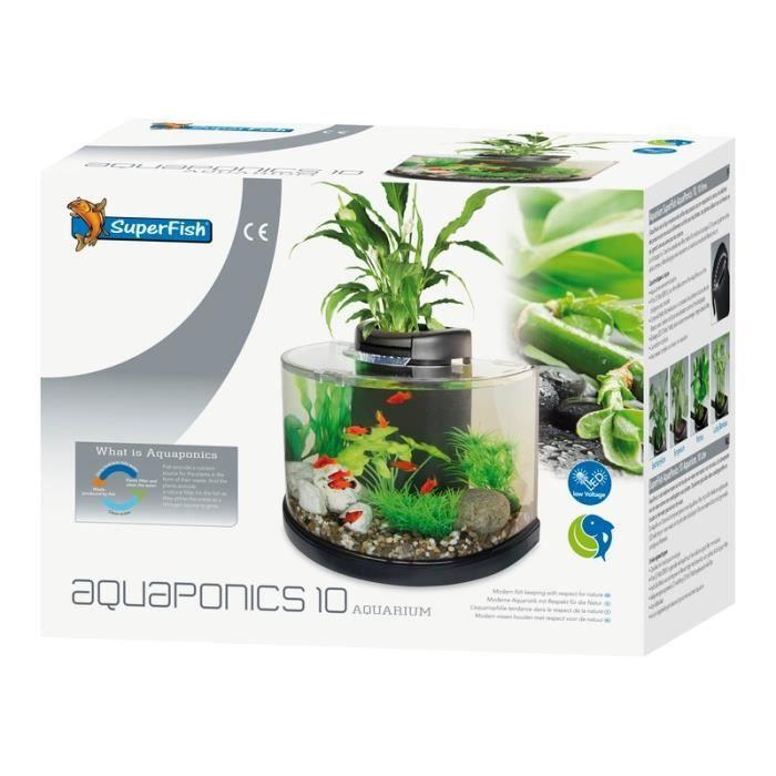 Aquarium sf aquaponics 10 pour eau douce ou eau froide for Aquaponics aquarium