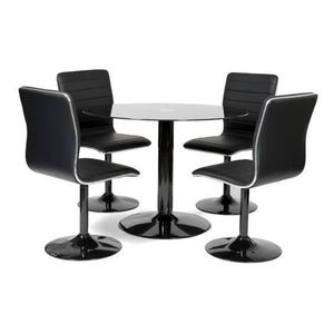 Table ronde 4 chaises achat vente table ronde 4 chaises pas cher soldes - Ensemble table ronde 4 chaises ...
