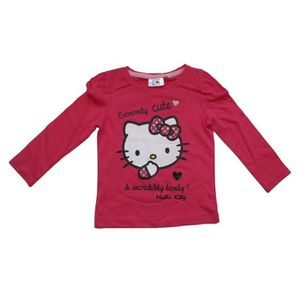 T-SHIRT Tee Shirt manches longues Hello Kitty (6 ANS - Fus