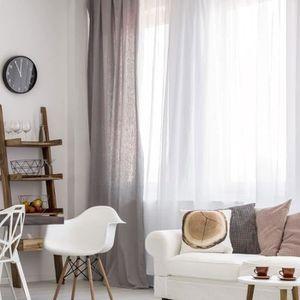 rideaux a pattes blanc achat vente rideaux a pattes blanc pas cher cdiscount. Black Bedroom Furniture Sets. Home Design Ideas