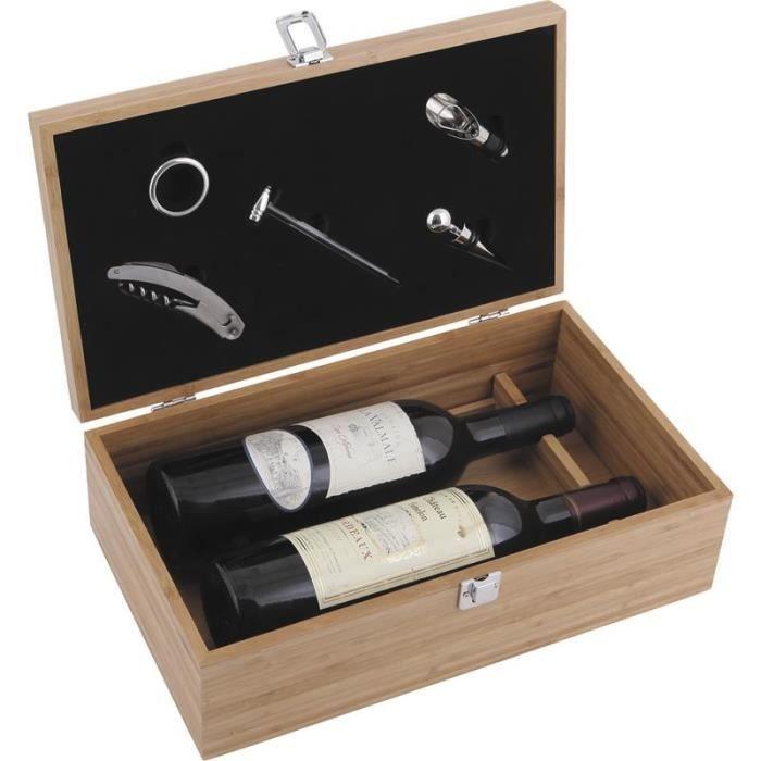 coffret bouteilles de vin 5 accessoires achat vente coffret sommelier coffret. Black Bedroom Furniture Sets. Home Design Ideas