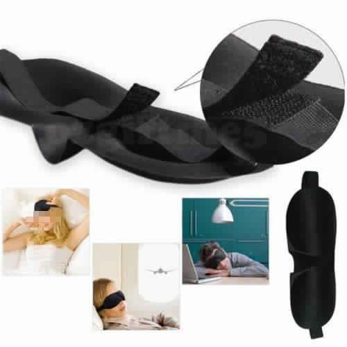 masque de nuit sommeil doux a r 3d bandeau cache yeux anti lumi re anti fatigue pour dormir. Black Bedroom Furniture Sets. Home Design Ideas
