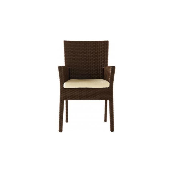 Fauteuil moderne aluminium et r sine tress e achat vente fauteuil jardin fauteuil moderne - Moderne fauteuils ...