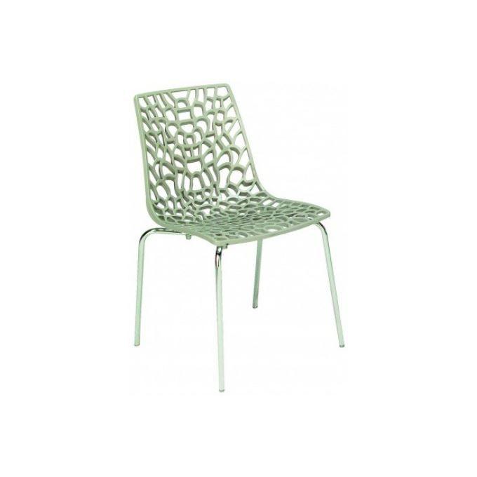 Chaise transparentes jute traviata achat vente chaise - Chaises transparentes design ...